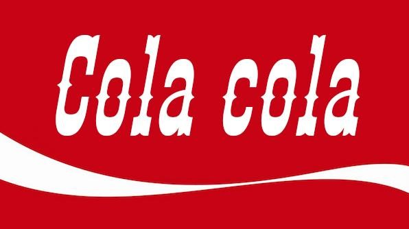Ejemplo de tipografía inadecuada para un producto como coca-cola