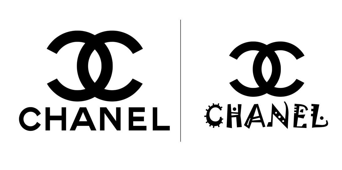 Ejemplo logotipo tipografía de la marca Chanel