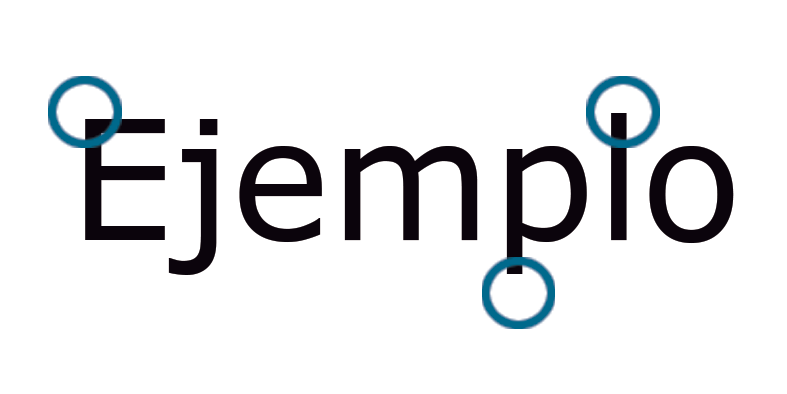 Ejemplo tipografía Sans serif