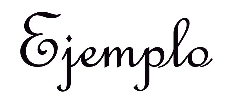 Ejemplo tipografía script o manuscrita